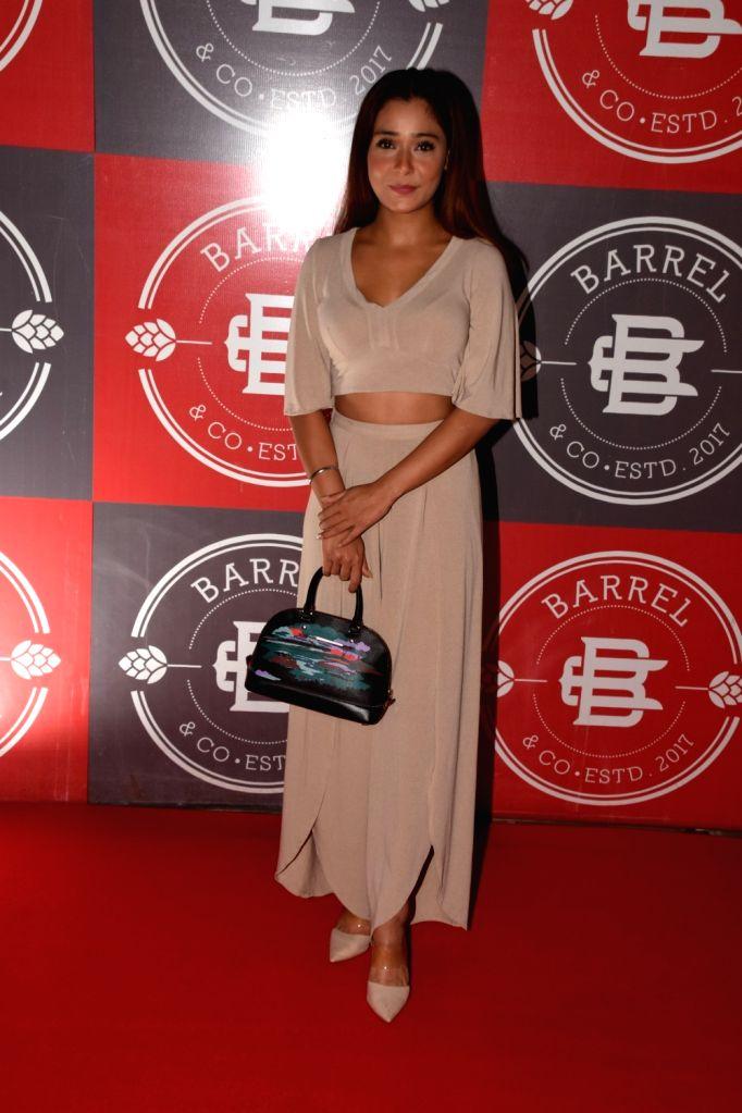 Actress Sara Khan during a programme in Mumbai on Sept 6, 2018. - Sara Khan