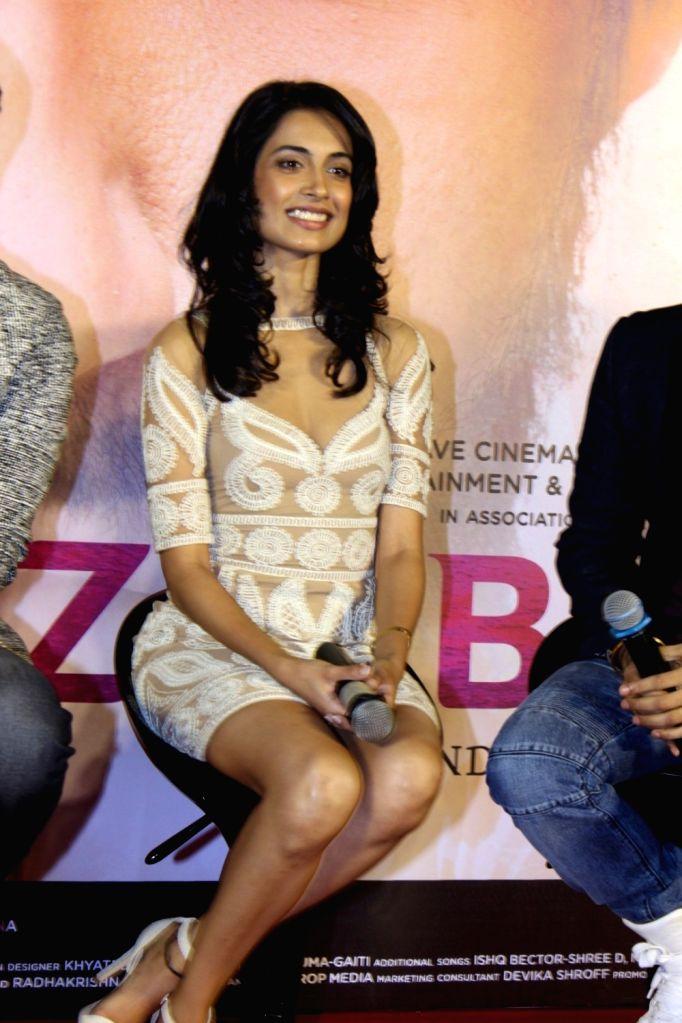 Actress Sarah Jane Dias during the trailer launch of film Zubaan in Mumbai on Jan 13, 2016. - Sarah Jane Dias