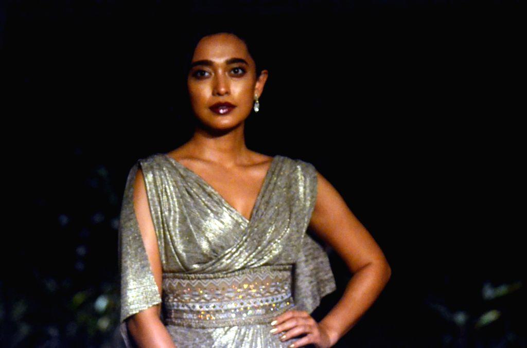 Actress Sayani Gupta at Lakme Fashion Week (LFW) Summer/Resort 2019 in Mumbai, on Feb 3, 2019. - Sayani Gupta