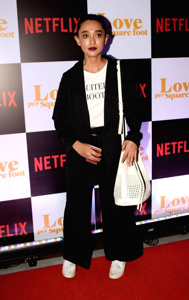 """Actress Sayani Gupta at the screening of film """"Love Per Square Foot"""" in Mumbai on Feb 11, 2018. - Sayani Gupta"""