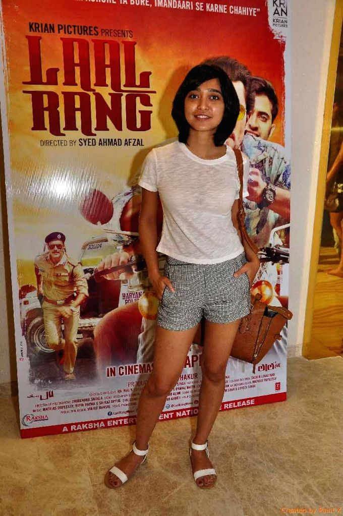 Actress Sayani Gupta during the screening of film Laal Rang hosted by Akshay Oberoi, in Mumbai on April 20, 2016. - Sayani Gupta