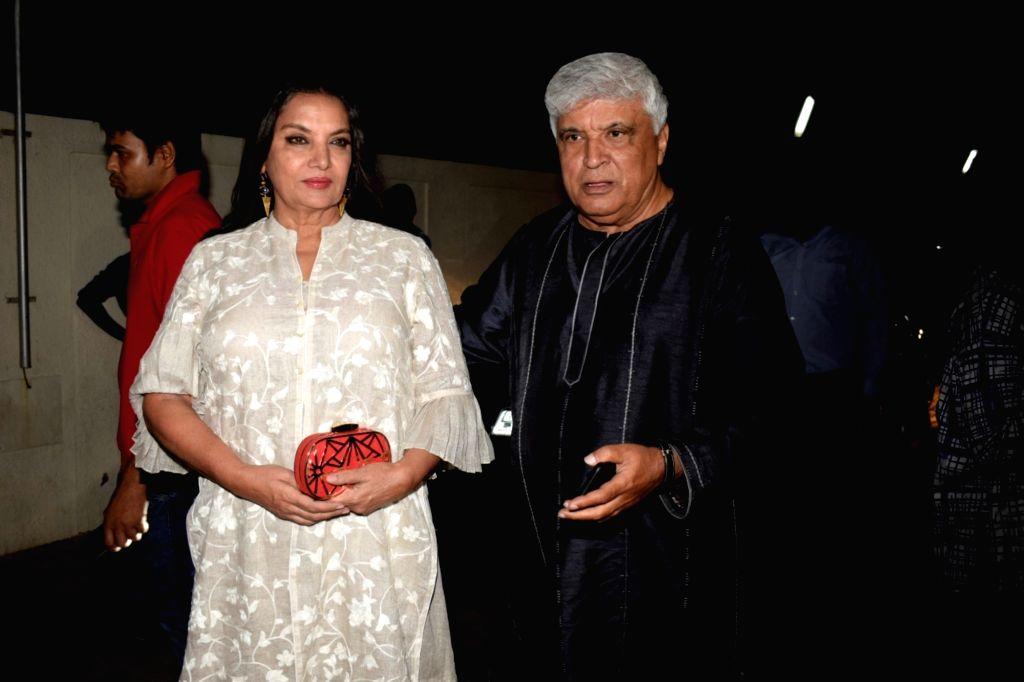 Actress Shabana Azmi along with his husband Javed Akhtar. (Photo: IANS) - Shabana Azmi