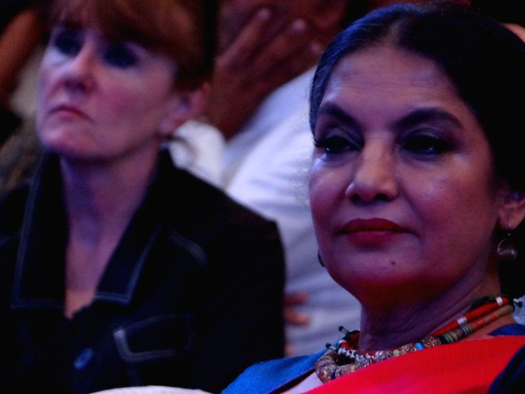 Actress Shabana Azmi during Plan India Impact Awards 2018, in New Delhi on July 27, 2018. - Shabana Azmi
