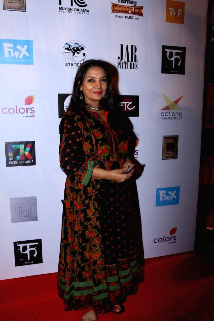 Actress Shabana Azmi during the Colours Khidkiyaan Theater Festival-Day 5 in Mumbai on March 5, 2017. - Shabana Azmi