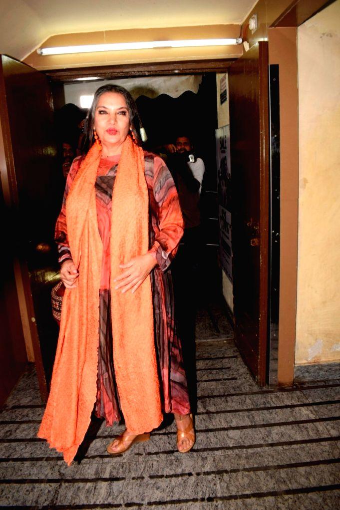 Actress Shabana Azmi seen at a cinema theatre in Juhu, Mumbai on July 13, 2018. - Shabana Azmi