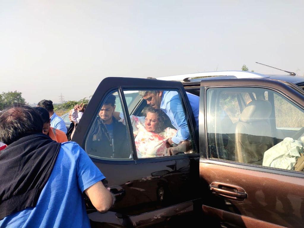 Actress Shabana Azmi was injured in a road accident involving her car near Khalapur on the Mumbai-Pune Expressway. - Shabana Azmi