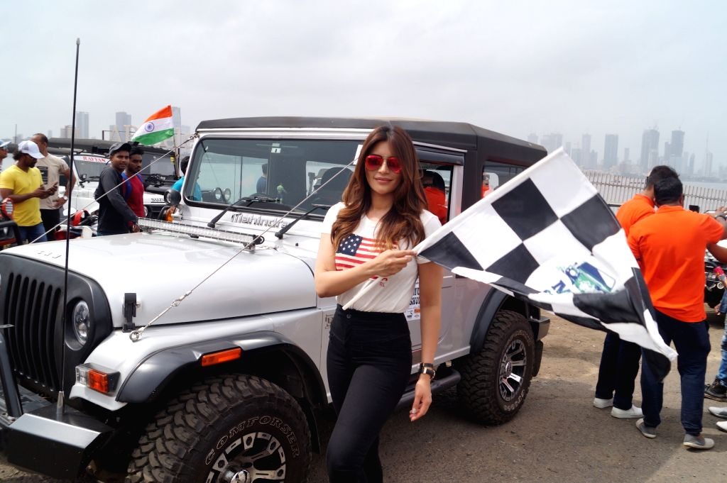 "Actress Shama Sikandar during the flagging off ceremony of car rally - ""Off Roading"", in Mumbai on May 27, 2018. - Shama Sikandar"