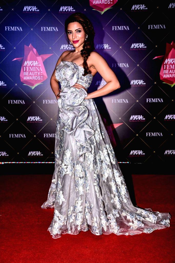Actress Shama Sikander at Nykaa Femina Beauty Awards 2019, in Mumbai, on Feb 20, 2019. - Shama Sikander