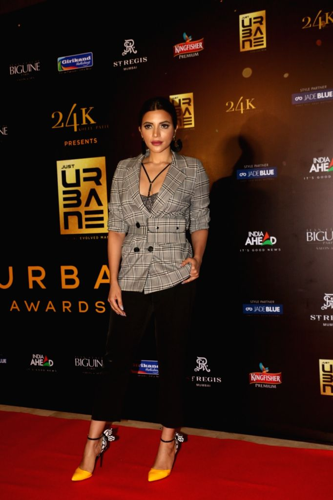 "Actress Shama Sikander on the red carpet of ""Urbane Awards 2019"", in Mumbai, on June 1, 2019. - Shama Sikander"