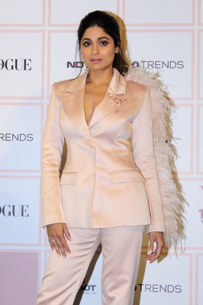 Actress Shamita Shetty at 10th Vogue Beauty Awards in Mumbai on Sep 26, 2019. - Shamita Shetty