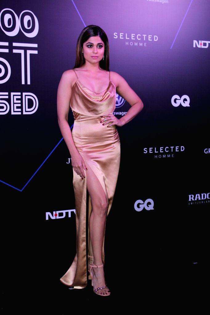 """Actress Shamita Shetty at """"GQ 100 Best Dressed Awards 2019"""", in Mumbai, on June 1, 2019. - Shamita Shetty"""