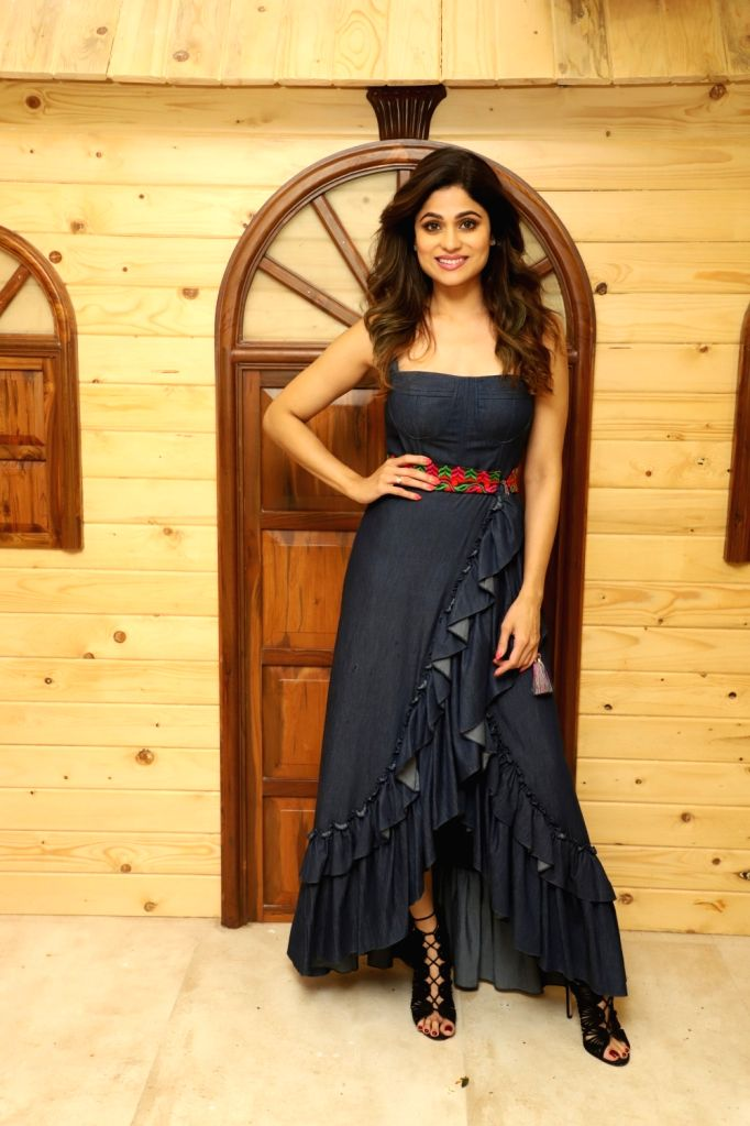 Actress Shamita Shetty at the launch of a pet salon in Mumbai on Oct 16, 2019. - Shamita Shetty