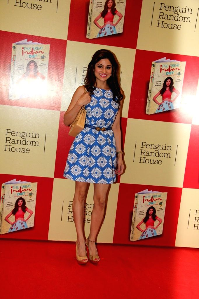 Actress Shamita Shetty during the launch of Shilpa Shetty`s book The Great Indian Diet in Mumbai, on Nov 19, 2015. - Shamita Shetty