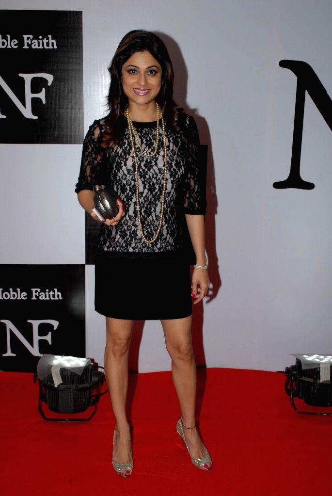 Actress Shamita Shetty during the launch of the brand Noble Faith in Mumbai on Aug 14, 2014. - Shamita Shetty