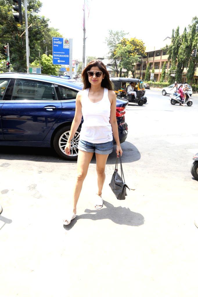 Actress Shamita Shetty seen at Bandra, in Mumbai, on June 2, 2019. - Shamita Shetty