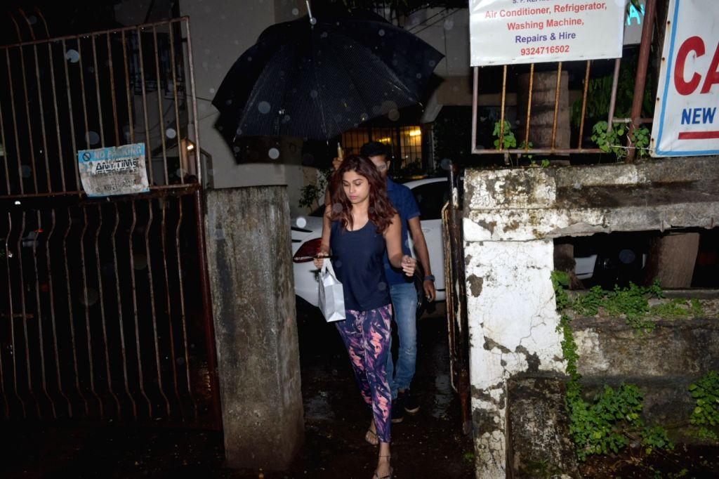 Actress Shamita Shetty seen at Juhu in Mumbai on Nov 7, 2019. - Shamita Shetty