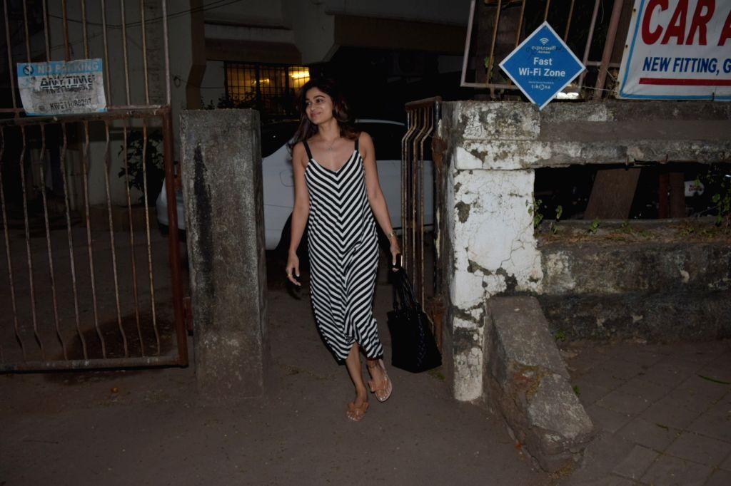 Actress Shamita Shetty seen at Juhu, in Mumbai on Jan 10, 2020. - Shamita Shetty
