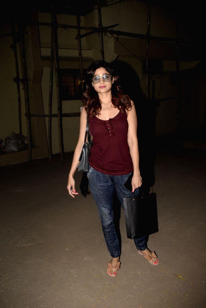 Actress Shamita Shetty seen at Mumbai's Juhu, on Feb 16, 2019. - Shamita Shetty