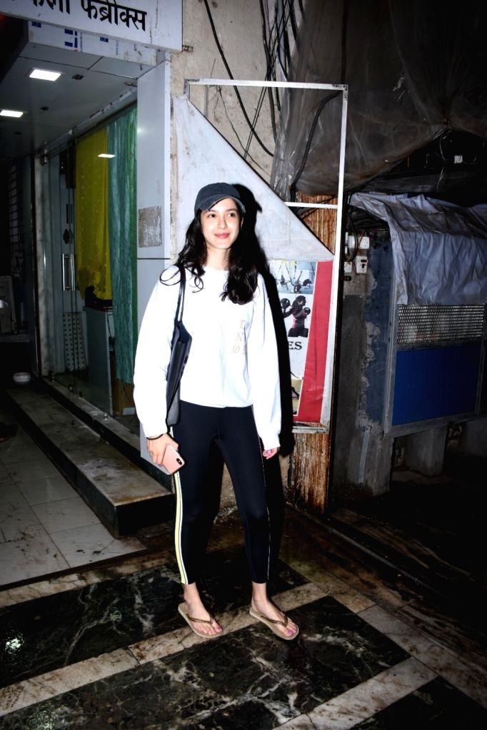 Actress Shanya Kapoor spotted at Bandra in Mumbai on Aug 9, 2019. - Shanya Kapoor