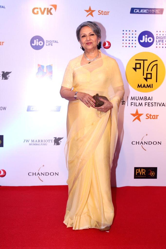 Actress Sharmila Tagore at Mami Movie Mela 2017 in Mumbai on Oct 12, 2017. - Sharmila Tagore