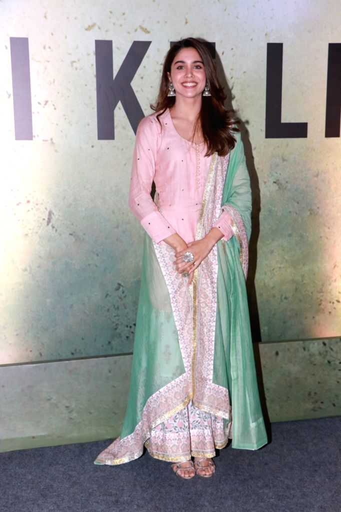 Actress Sharvari at a live music concert led by singer-composer Pritam Chakraborty accompanied by 1000 other musicians, organised by the makers of his upcoming web series on Amazon Prime ... - Sharvari and Pritam Chakraborty