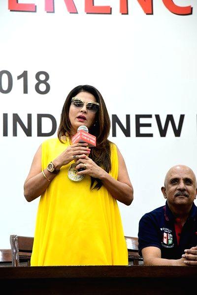 Actress Sheeba Akashdeep Sabir during a press conference regarding Luv Kush Ramleela in New Delhi on May 21, 2018. - Sheeba Akashdeep Sabir