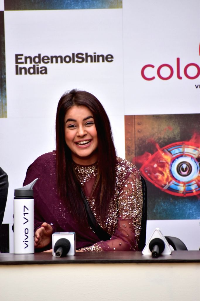 Actress Shehnaz Kaur Gill at Bigg Boss 13 press conference, in Mumbai on Feb 5, 2020. - Shehnaz Kaur Gill