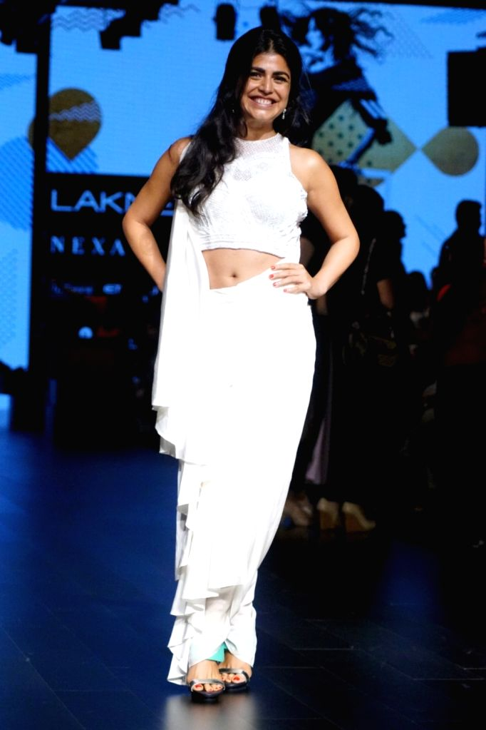 Actress Shenaz Treasury during the Lakme Fashion Week Winter/Festive 2017 in Mumbai on Aug 20, 2017. - Shenaz Treasury