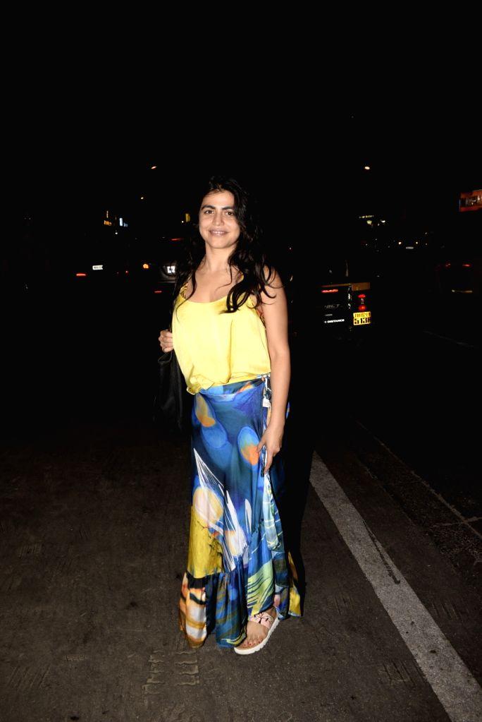 Actress Shenaz Treasury seen outside a club in Mumbai's Juhu, on March 3, 2019. - Shenaz Treasury