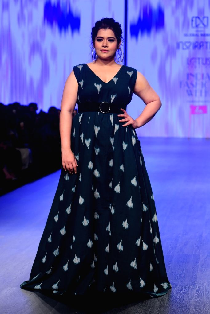 Actress Shikha Talsania on the second day of Lotus India Fashion Week in New Delhi, on March 14, 2019. - Shikha Talsania