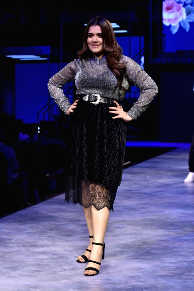 Actress Shikha Talsania walks the ramp for fashion brand Vero Moda at AW'18 collection in Mumbai on Aug 8, 2018. - Shikha Talsania