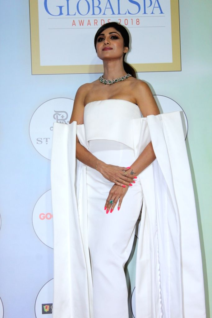 "Actress Shilpa Shetty at ""Global Spa Awards"" in Mumbai, on April 24, 2019. - Shilpa Shetty"