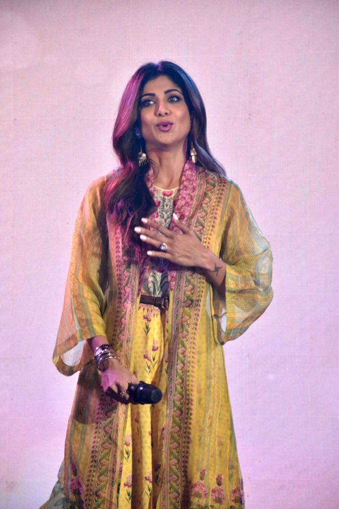 Actress Shilpa Shetty at the 38th annual day celebrations of Children Welfare Centre High School in Mumbai, on March 3, 2019. - Shilpa Shetty
