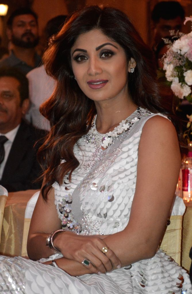 Actress Shilpa Shetty at the launch of a real estate project in Gurugram, on May 14, 2017. - Shilpa Shetty