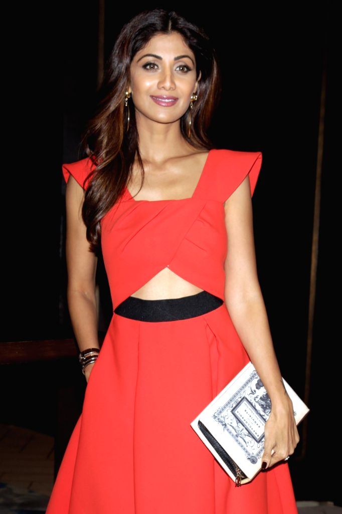 Actress Shilpa Shetty during a press conference to announce the stars and superstars of social media, in New Delhi on Aug 10, 2016. - Shilpa Shetty