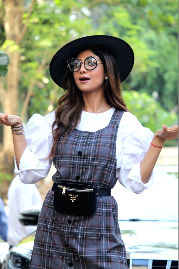 Actress Shilpa Shetty during birthday celebrations of her son Viaan in Mumbai on May 25, 2019. - Shilpa Shetty