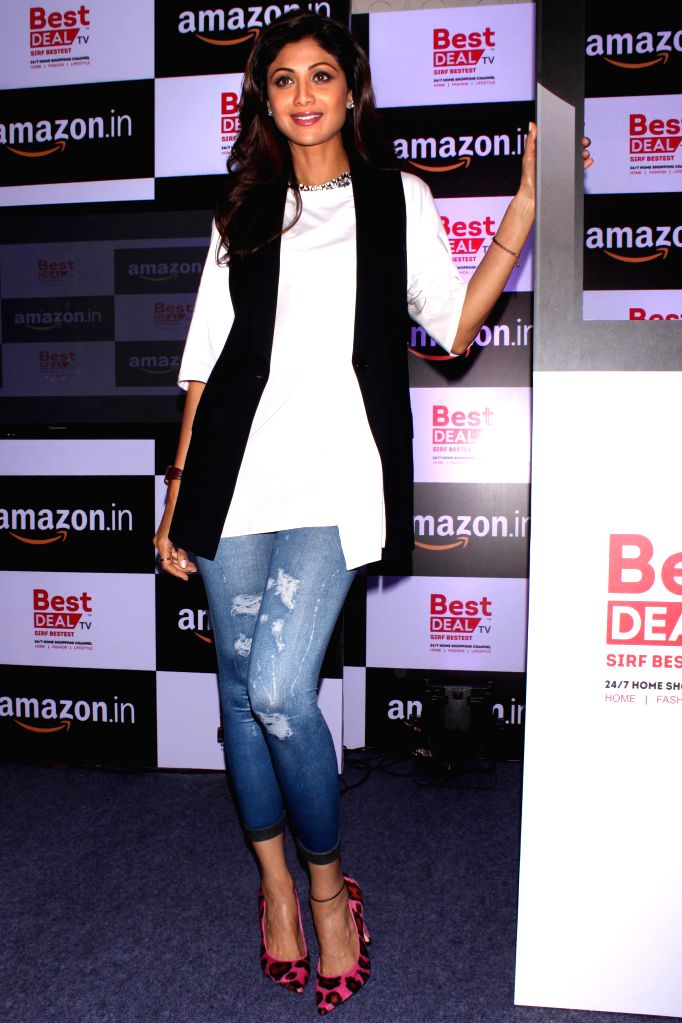 Actress Shilpa Shetty during the launch of celebrity-endorsed products of Best Deal TV exclusively on Amazon, in New Delhi on June 24, 2015.
