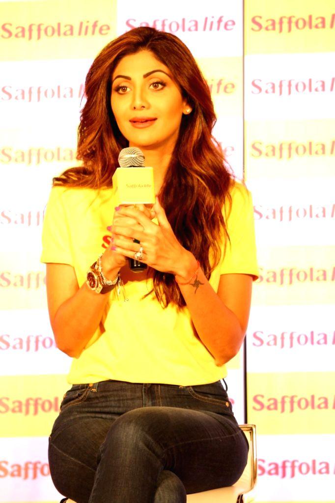 Actress Shilpa Shetty during the World Heart Day program organized by Saffola Life in Mumbai, on Sep 28, 2016. - Shilpa Shetty