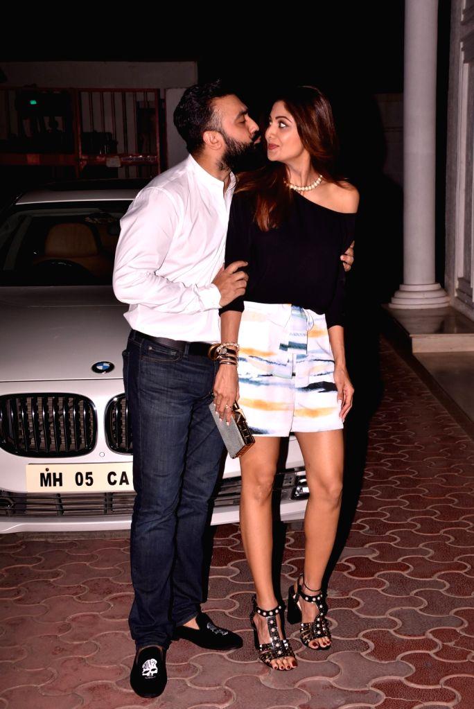 Actress Shilpa Shetty Kundra along with her husband Raj Kundra. (Photo: IANS) - Shilpa Shetty Kundra and Raj Kundra