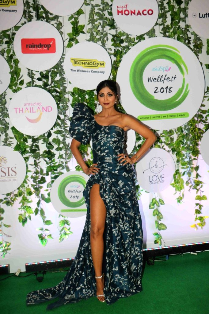 Actress Shilpa Shetty Kundra at the red carpet of Asia Spa Fit & Fabulous Awards 2018 in Mumbai on Oct 30, 2018. - Shilpa Shetty Kundra