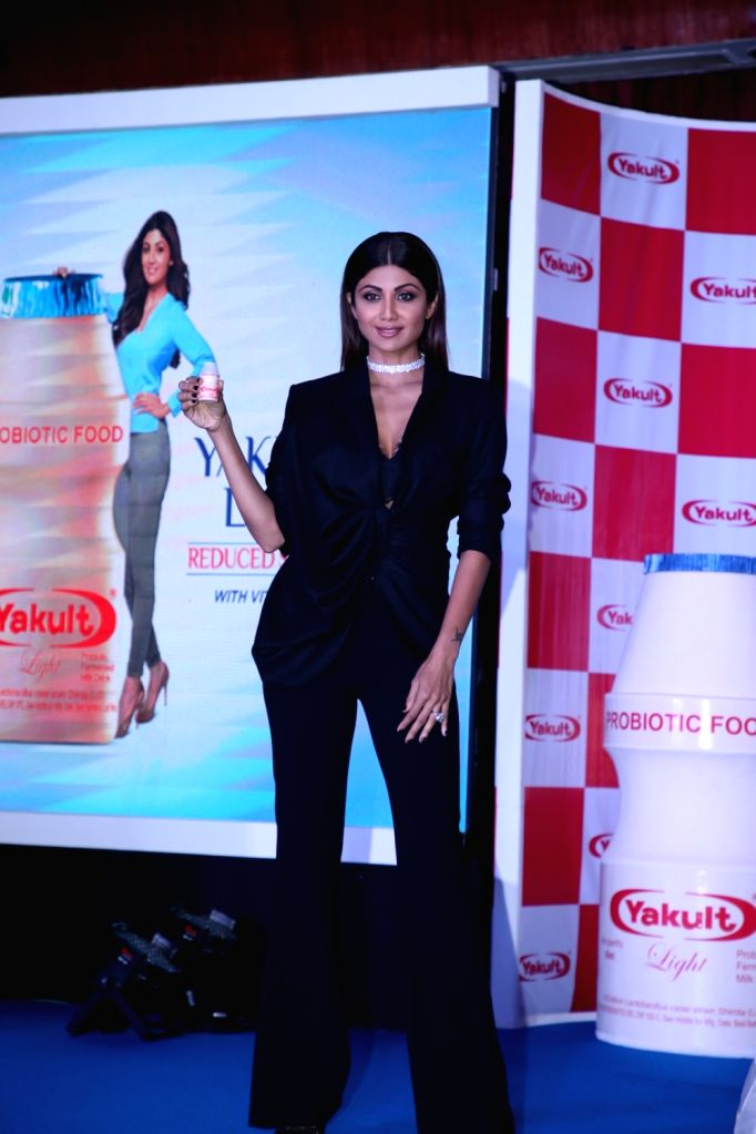 Actress Shilpa Shetty Kundra during a programme in Mumbai on Feb 8, 2018. - Shilpa Shetty Kundra