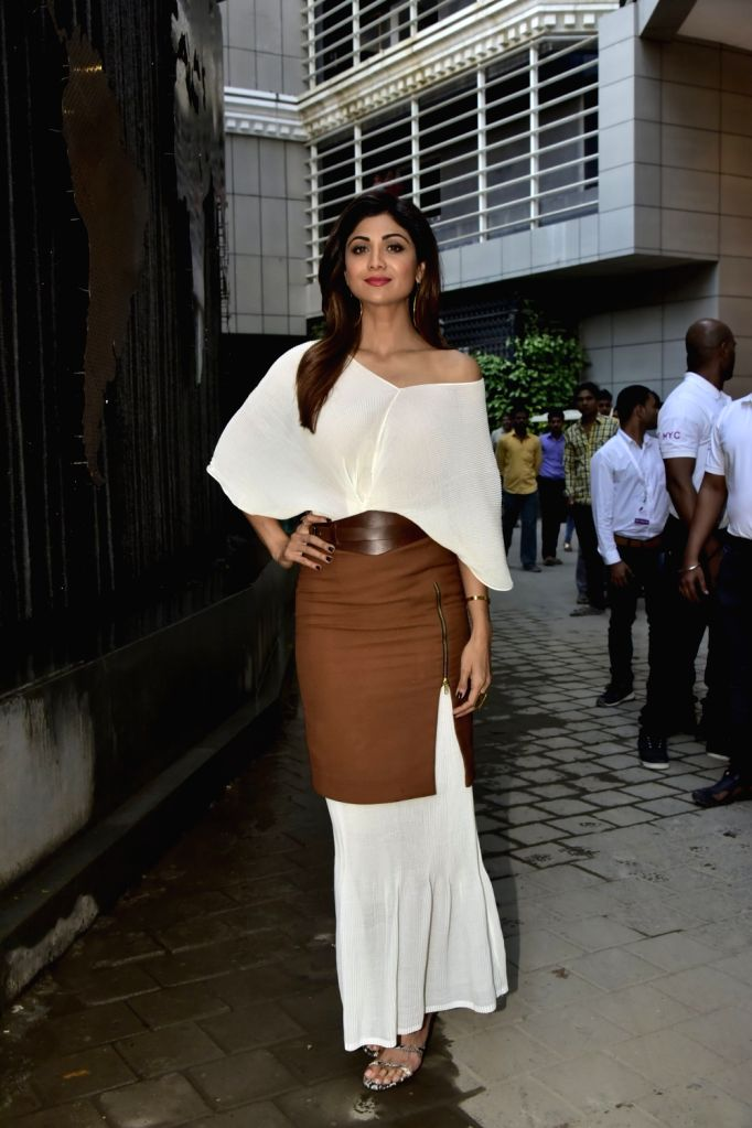 Actress Shilpa Shetty Kundra during a programme in Mumbai on Feb 11, 2018. - Shilpa Shetty Kundra