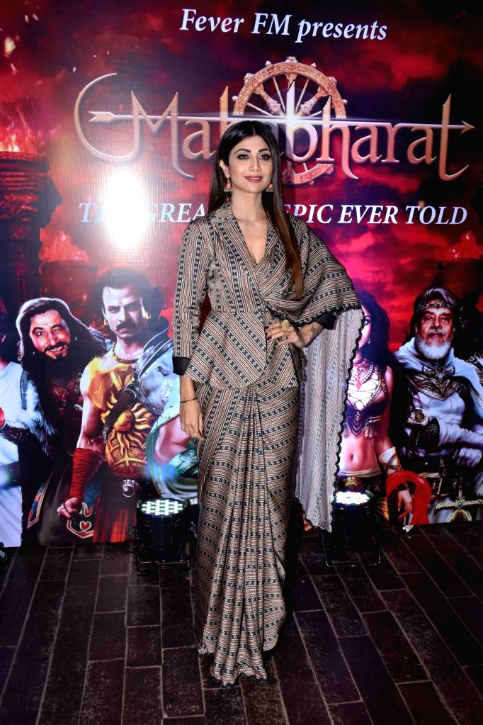 Actress Shilpa Shetty Kundra during a programme in Mumbai on Oct 30, 2018. - Shilpa Shetty Kundra