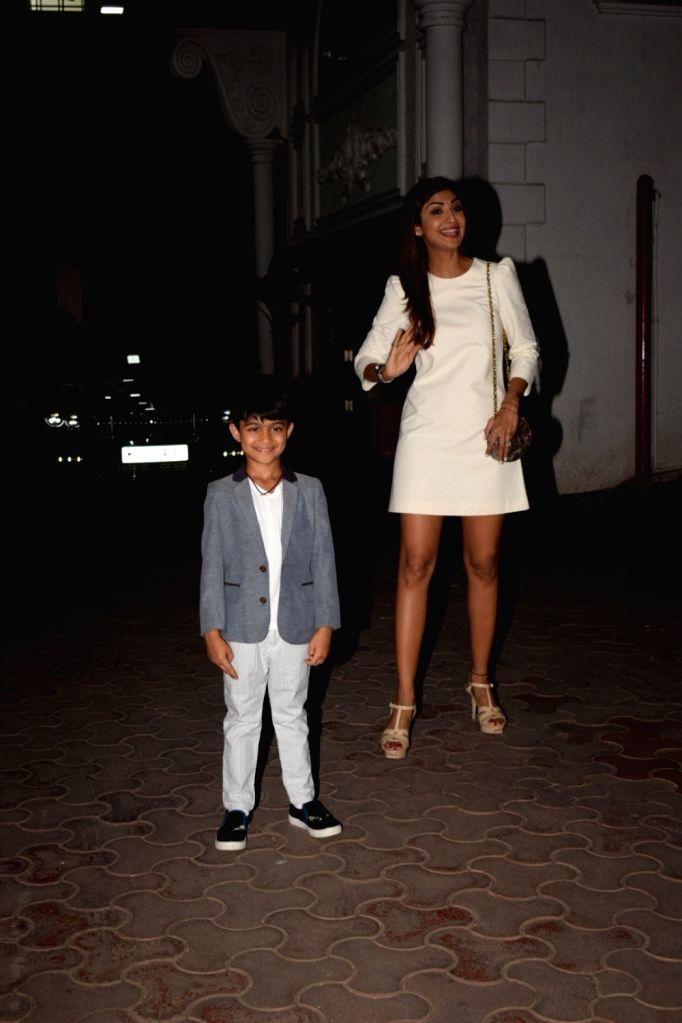 Actress Shilpa Shetty Kundra during birthday celebration of her son Viaan Raj Kundra in Mumbai on May 21, 2018. - Shilpa Shetty Kundra and Raj Kundra