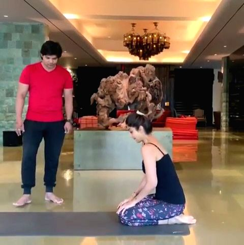 Actress Shilpa Shetty Kundra, who is known for her love for yoga, has just nailed the Vrischikasana ( the scorpion pose) in a way which can give yoga experts across the globe a run for money. Shilpa ... - Shilpa Shetty Kundra