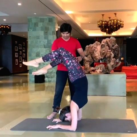Actress Shilpa Shetty Kundra, who is known for her love for yoga, has just nailed the Vrischikasana ( the scorpion pose) in a way which can give yoga experts across the globe a run for money. Shilpa Shetty took to Instagram on Monday morning to share - Shilpa Shetty Kundra