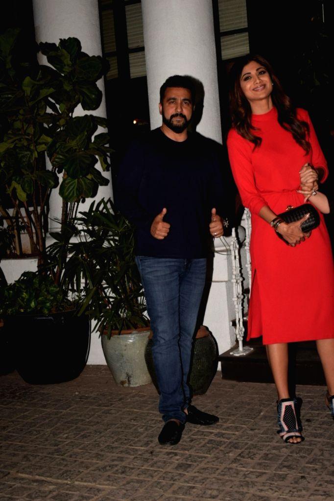 Shilpa Shetty Kundra and Raj Kundra seen at Soho House in Juhu