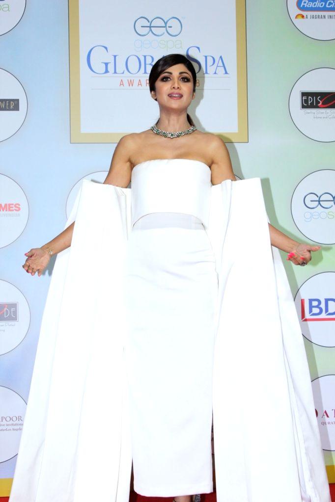 Actress Shilpa Shetty on the red carpet of the GeoSpa Awards 2019, in Mumbai, on April 24, 2019. - Shilpa Shetty
