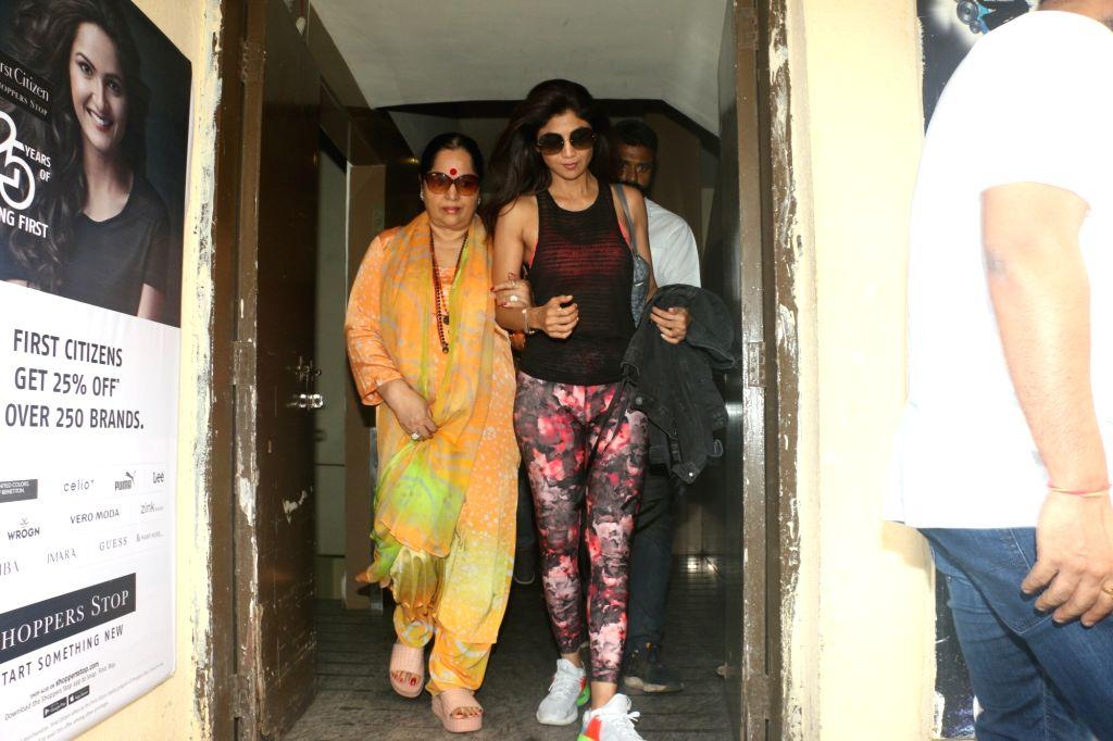 Actress Shilpa Shetty seen at Juhu in Mumbai on Nov 9, 2019. - Shilpa Shetty