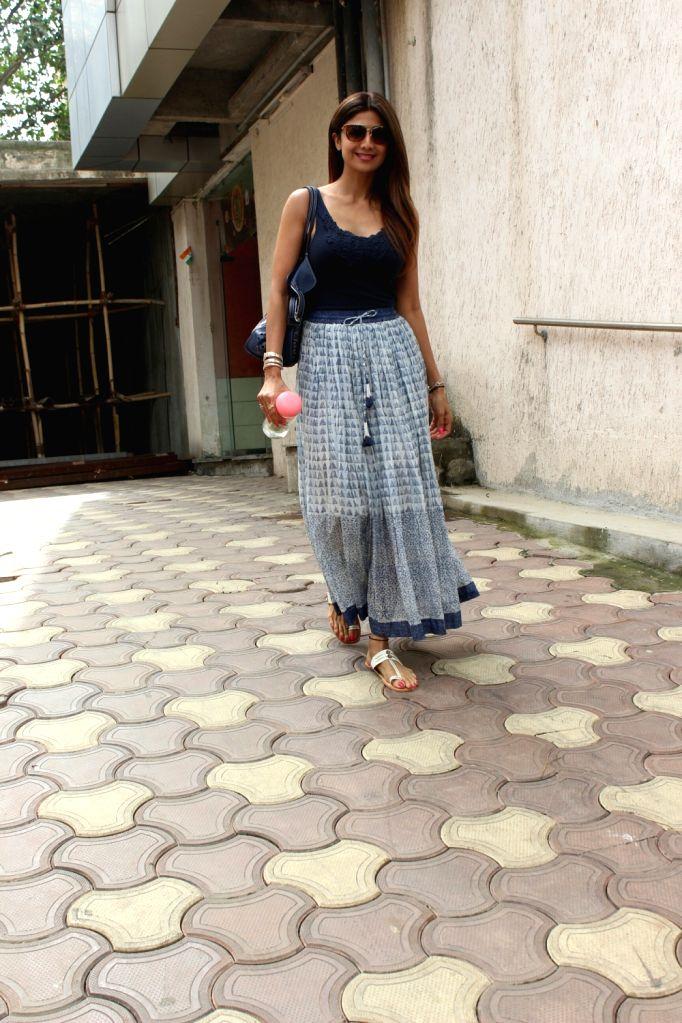 Actress Shilpa Shetty seen at Mumbai's Bandra on June 11, 2018. - Shilpa Shetty
